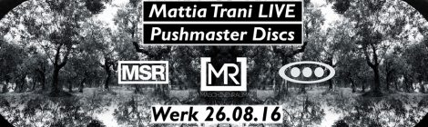 26 08 16 commandyoursoul & maschinenraum & minimalsoul present: MATTIA TRANI Live